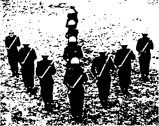 Army Squad Wedge Formation